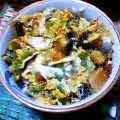 うなぎと小松菜の卵とじ丼